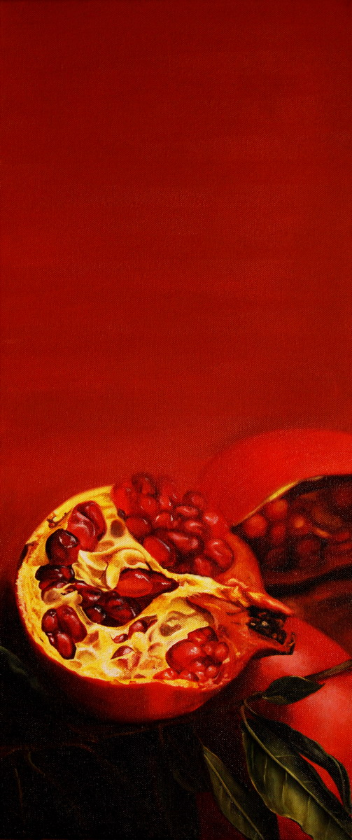 Pomegranate (30x60cm) oil on canvas