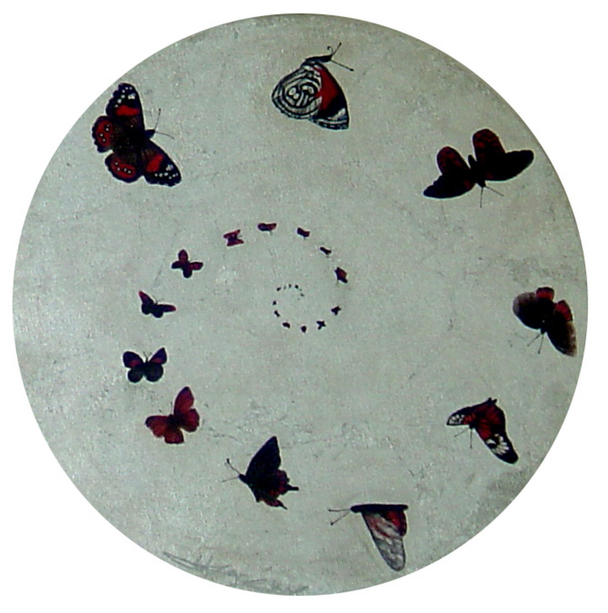 Incarnation(50cm) mixed media on round canvas