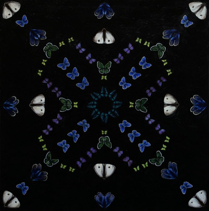 Kaleidoscope II (70x70cm)-acrylic on canvas
