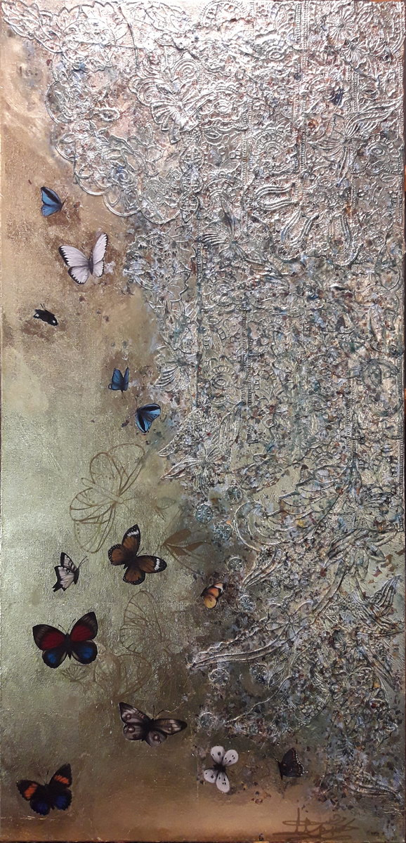 Gate (120x60cm) mixed media on canvas