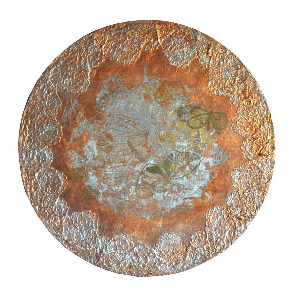 5th Dimension Earth I (60cm) mixed media on round canvas