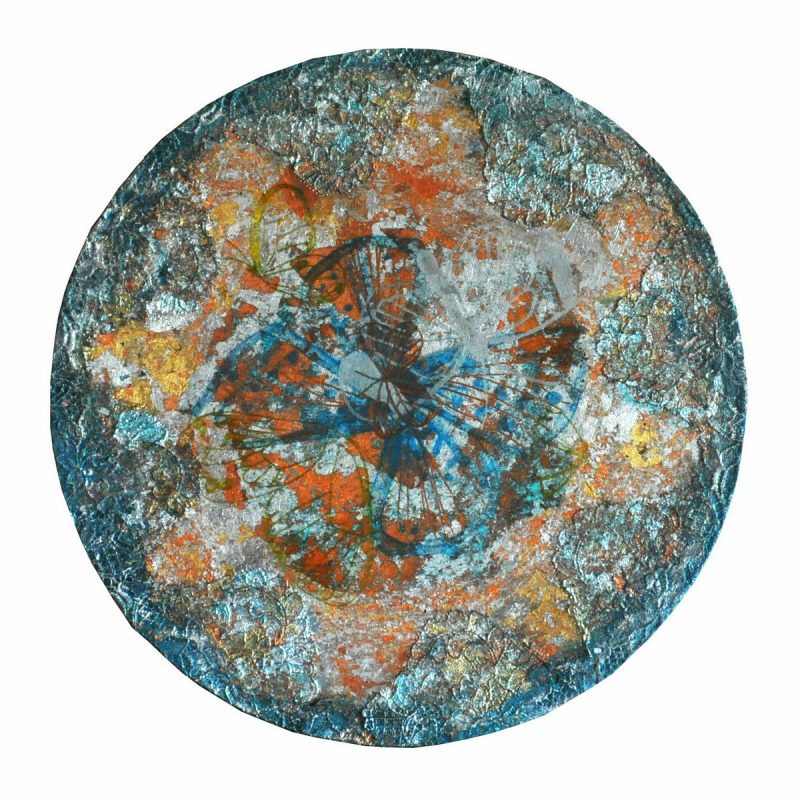 5th Dimension Earth II (40cm) mixed media on round canvas