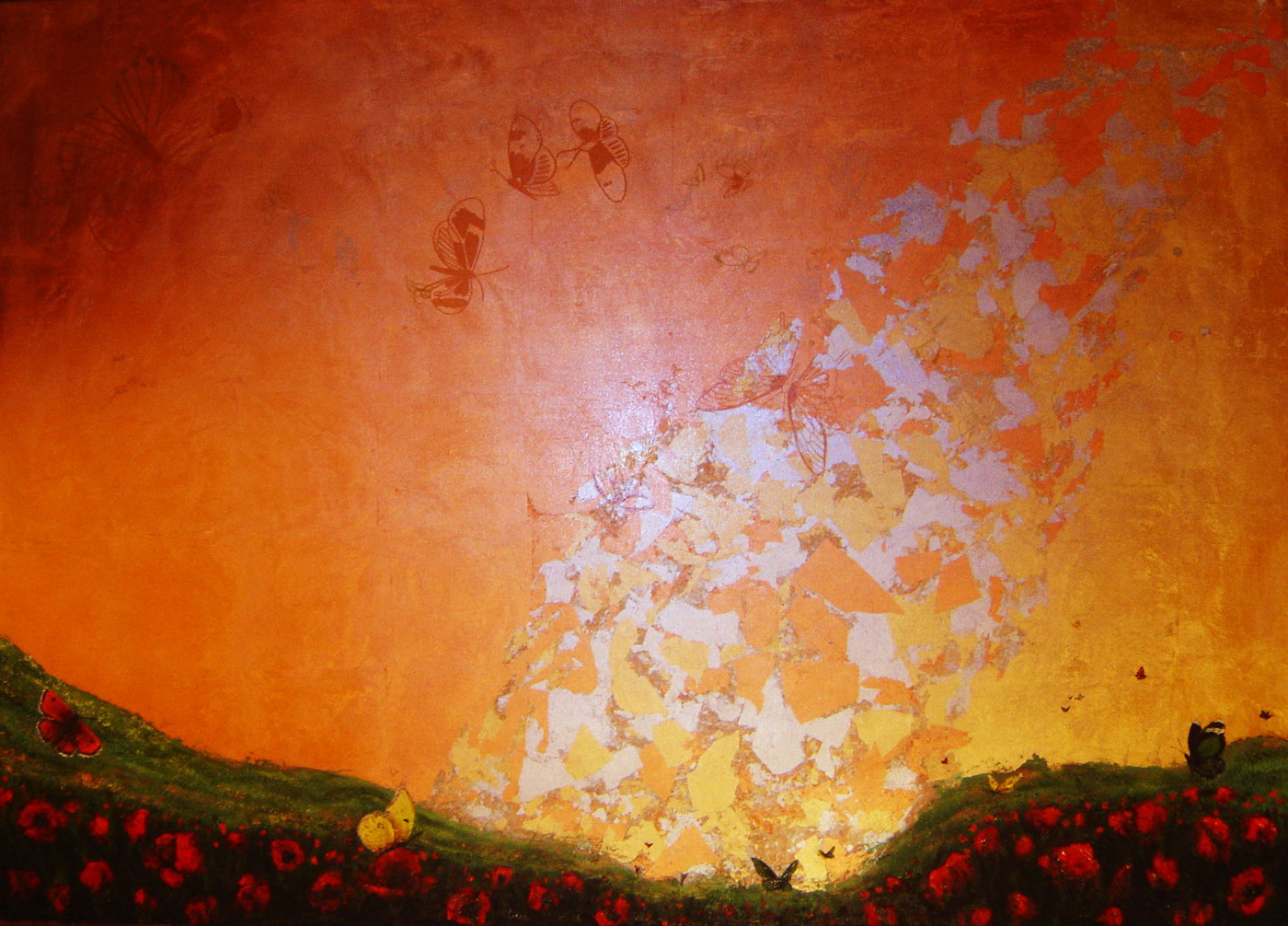 Sunrise (140x100cm) mixed media on canvas